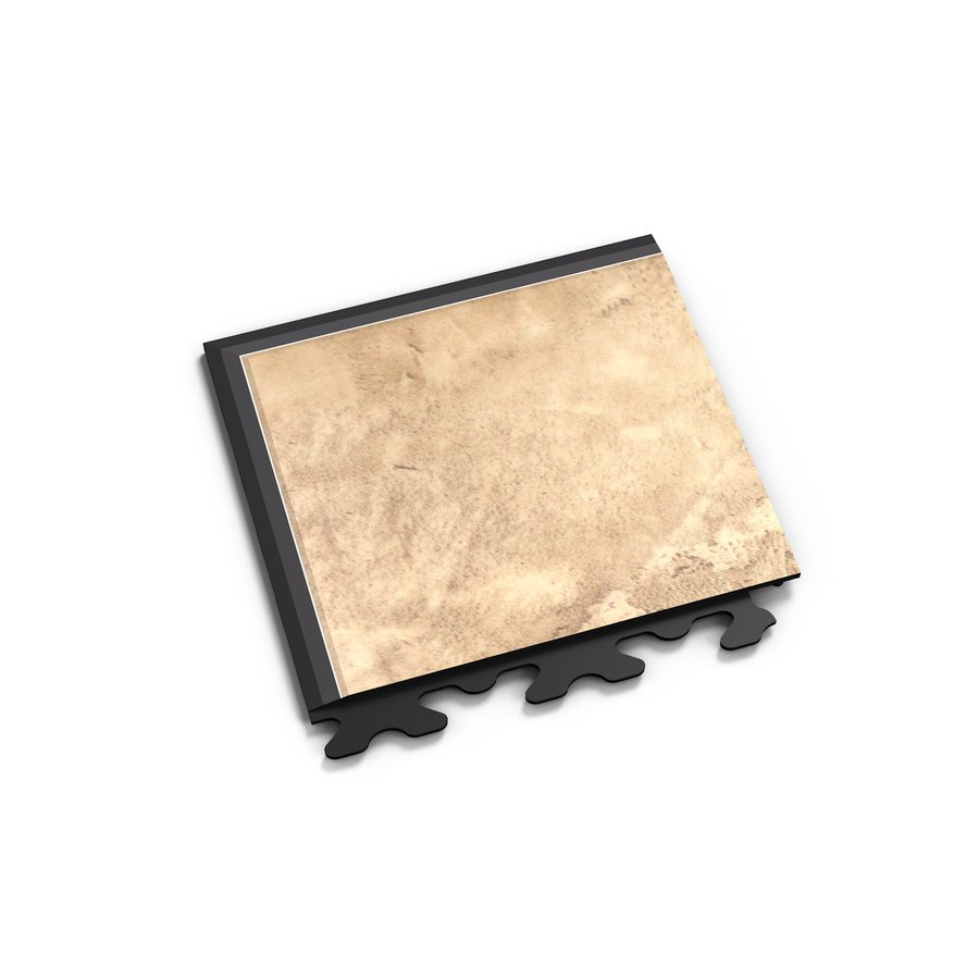 "Béžový vinylový plastový rohový nájezd ""typ A"" Business Decor 2126, Fortelock - délka 14,5 cm, šířka 14,5 cm a výška 0,65 cm"