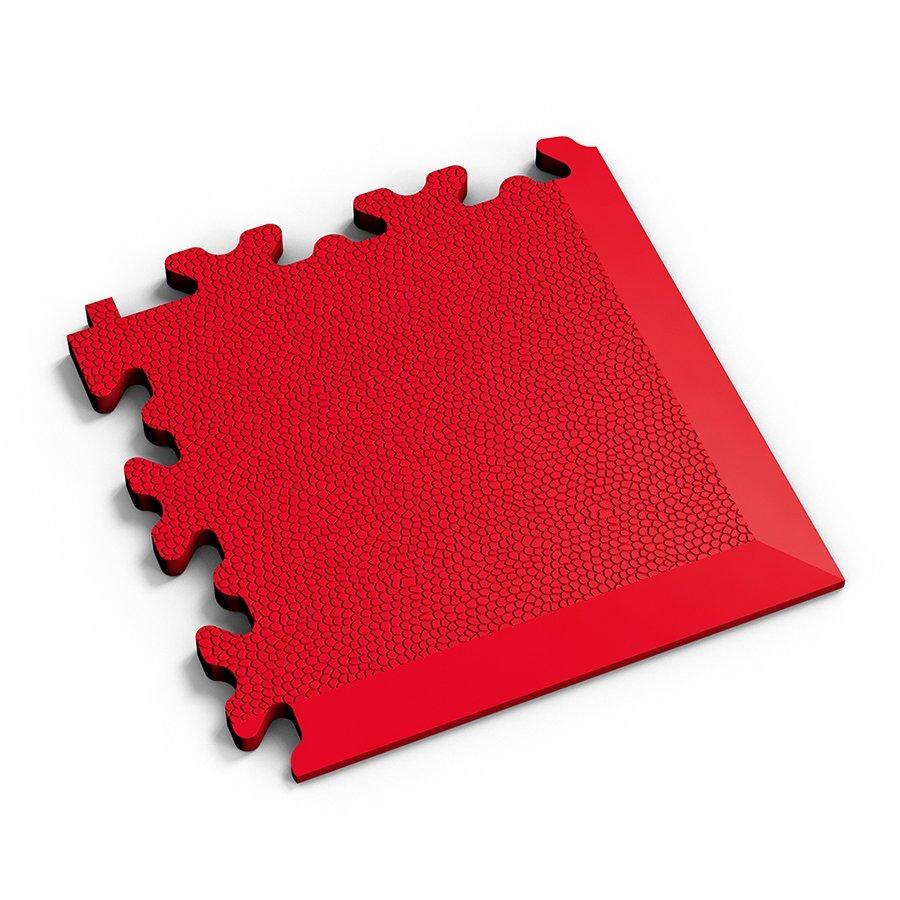 Červený vinylový plastový rohový nájezd 2026 (kůže), Fortelock - délka 14 cm, šířka 14 cm a výška 0,7 cm
