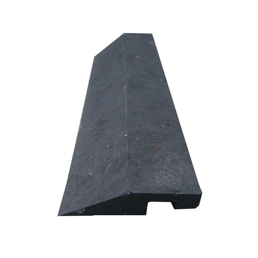 """Černý plastový nájezd """"nad"""" pro plastové podlahové desky - délka 40 cm, šířka 10 cm a výška 2,2 cm"""