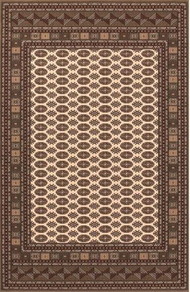Hnědý kusový luxusní orientální koberec Saphir