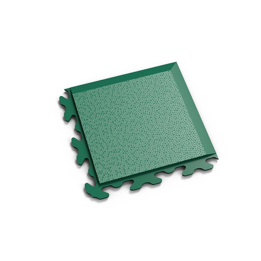 """Zelený plastový vinylový rohový nájezd """"typ B"""" Invisible 2037 (hadí kůže), Fortelock - délka 14,5 cm, šířka 14,5 cm a výška 0,67 cm"""