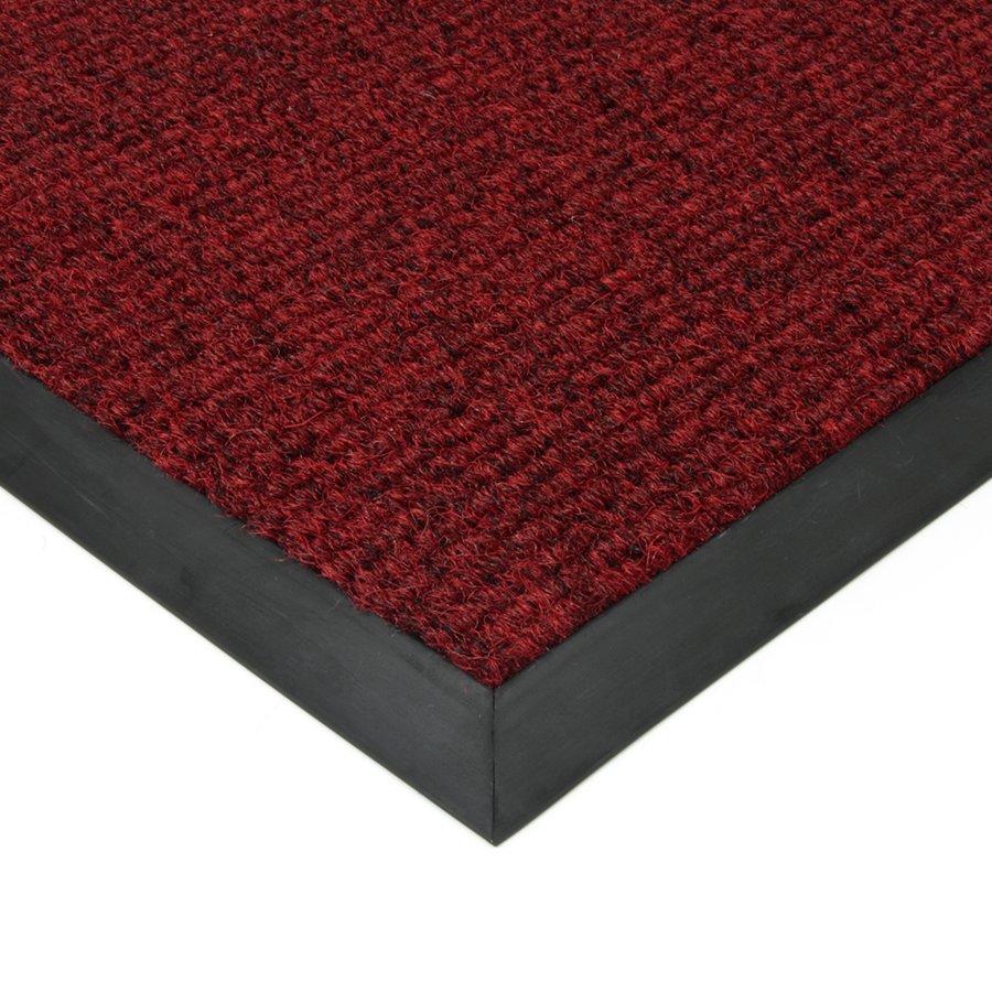 Červená textilní zátěžová čistící vnitřní vstupní rohož Catrine, FLOMAT - délka 1 cm, šířka 1 cm a výška 1,35 cm