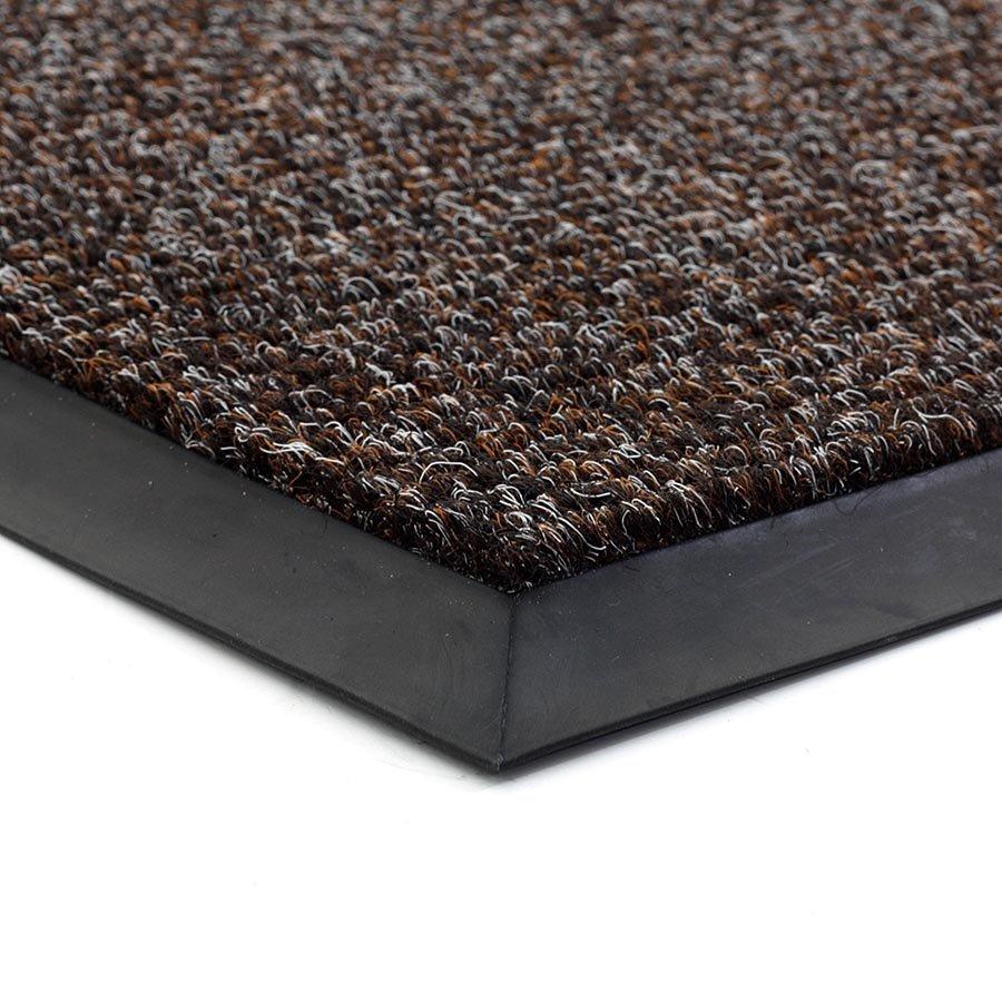 Tmavě hnědá textilní zátěžová čistící vnitřní vstupní rohož Catrine, FLOMA - délka 220 cm, šířka 90 cm a výška 1,35 cm