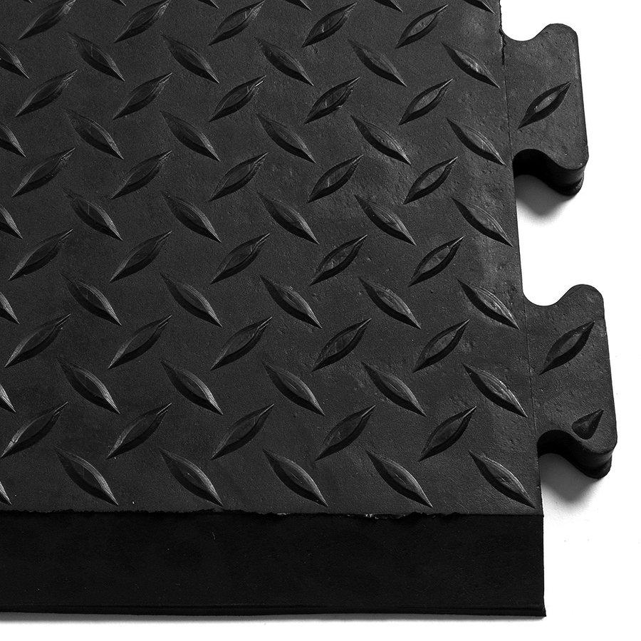 Černá gumová protiskluzová protiúnavová průmyslová rohož - délka 79 cm a šířka 71 cm