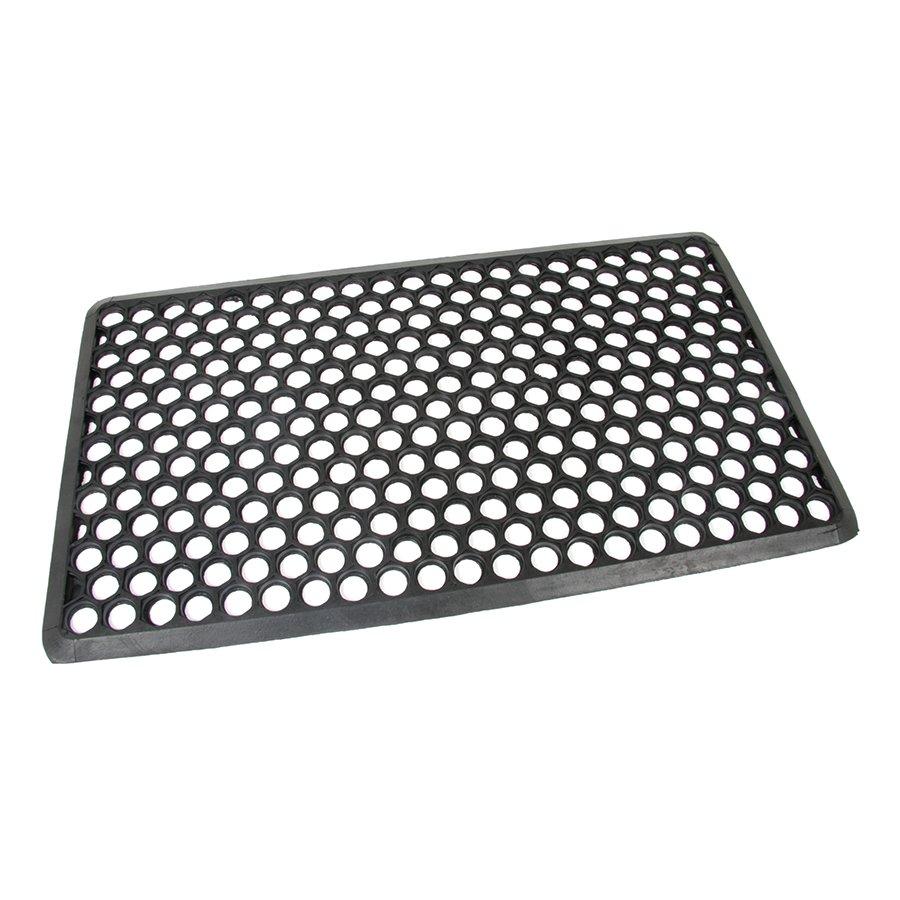 Gumová vstupní venkovní čistící rohož Hexagon, FLOMAT - délka 70 cm, šířka 40 cm a výška 1,2 cm