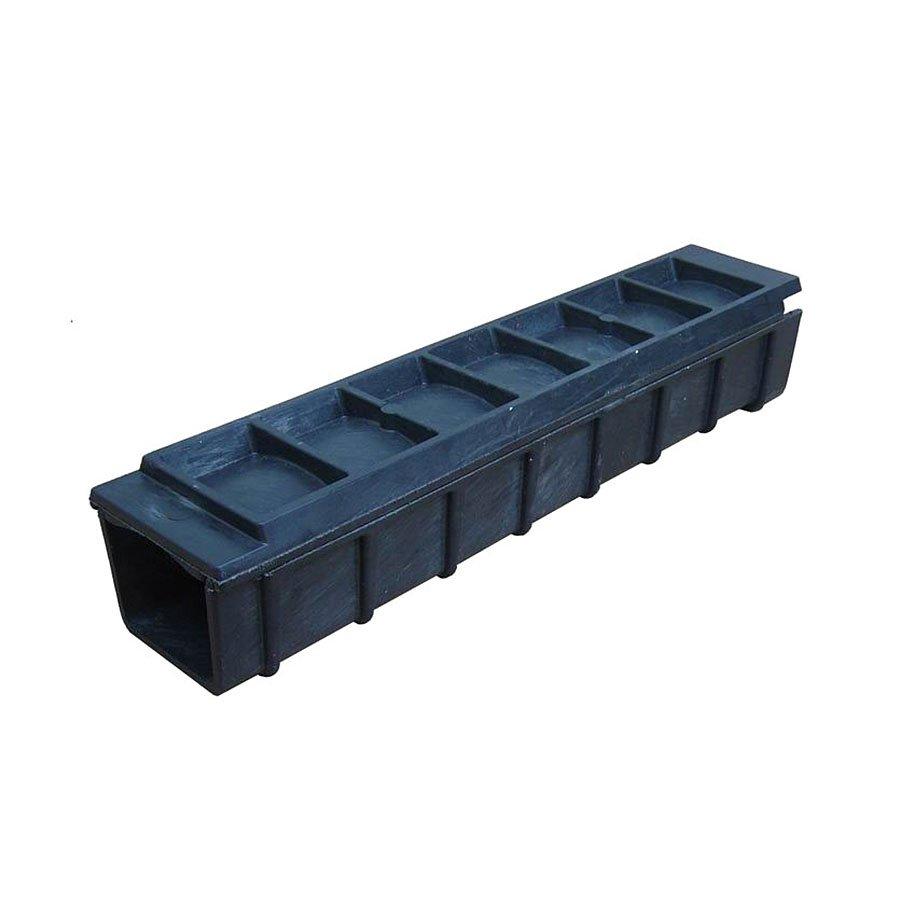 Černá plastová kabelová chránička - délka 80 cm, šířka 17 cm a výška 15,5 cm