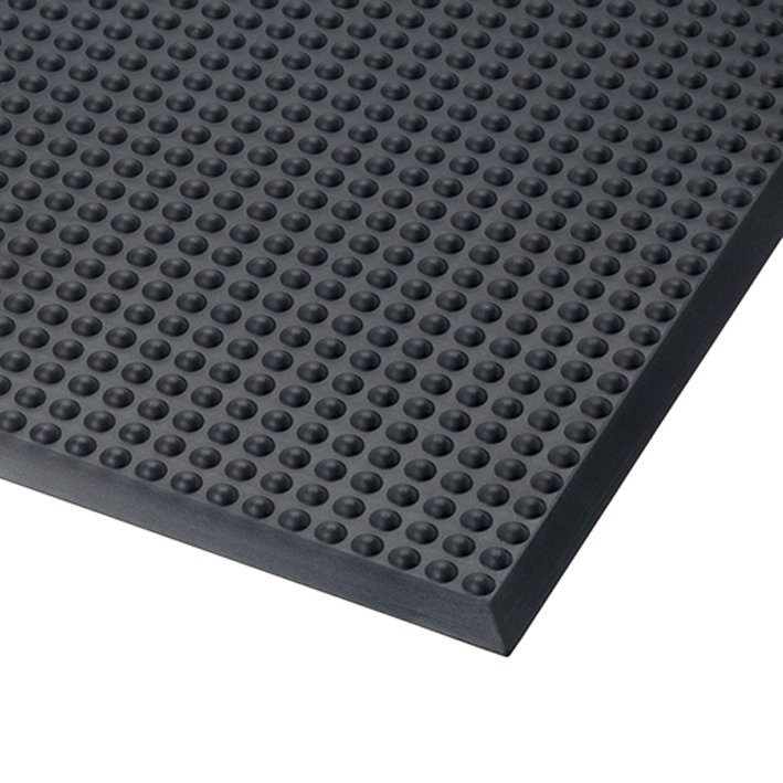 Černá polyuretanová protiúnavová průmyslová rohož ESD, Skywalker PUR - výška 1,4 cm