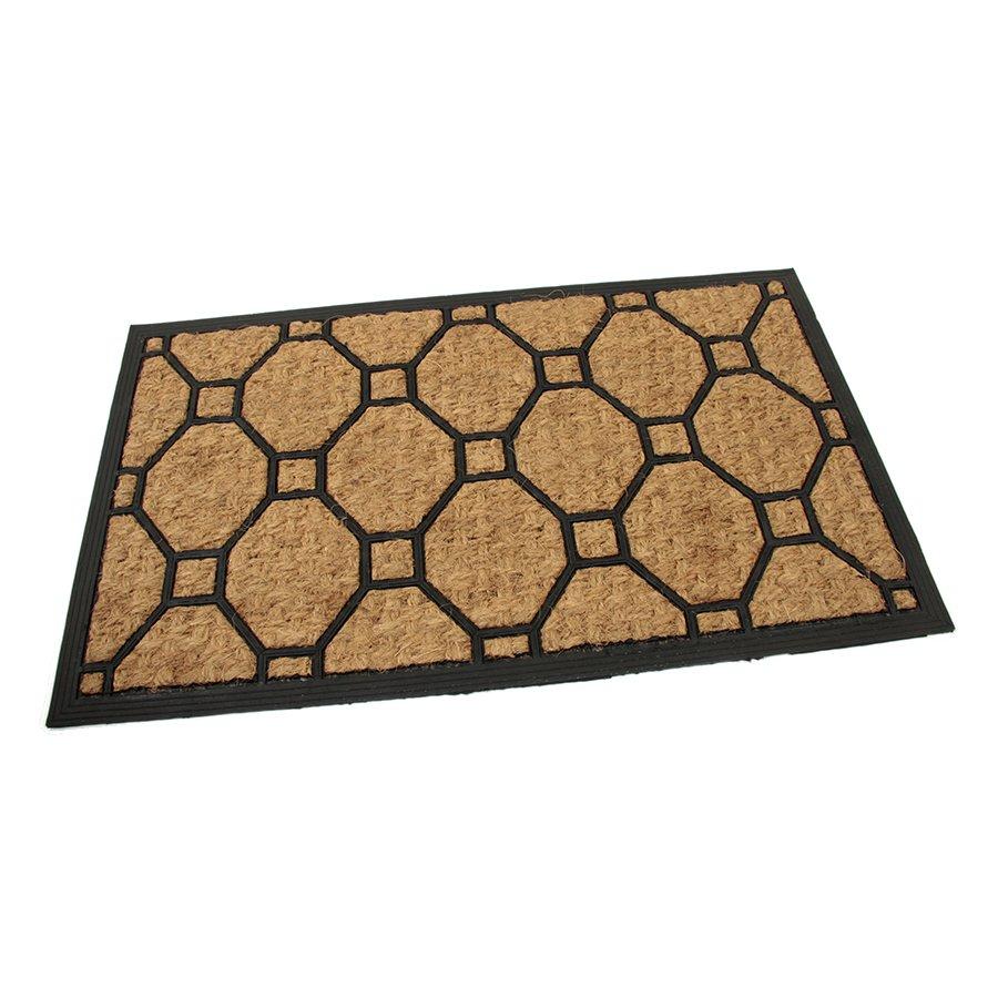 Kokosová čistící venkovní vstupní rohož Squares - Rectangle, FLOMAT - délka 45 cm, šířka 75 cm a výška 0,8 cm