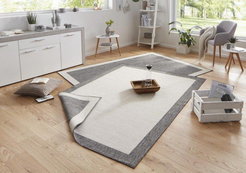 Šedý kusový oboustranný koberec Twin-Wendeteppiche