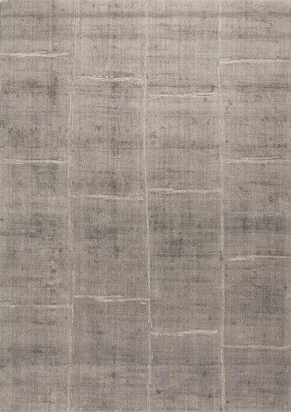 Šedý kusový luxusní koberec Reflect
