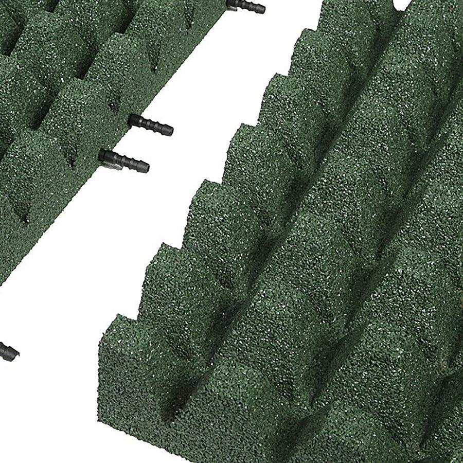 Zelená gumová krajová deska (V80/R50) - délka 50 cm, šířka 25 cm a výška 8 cm