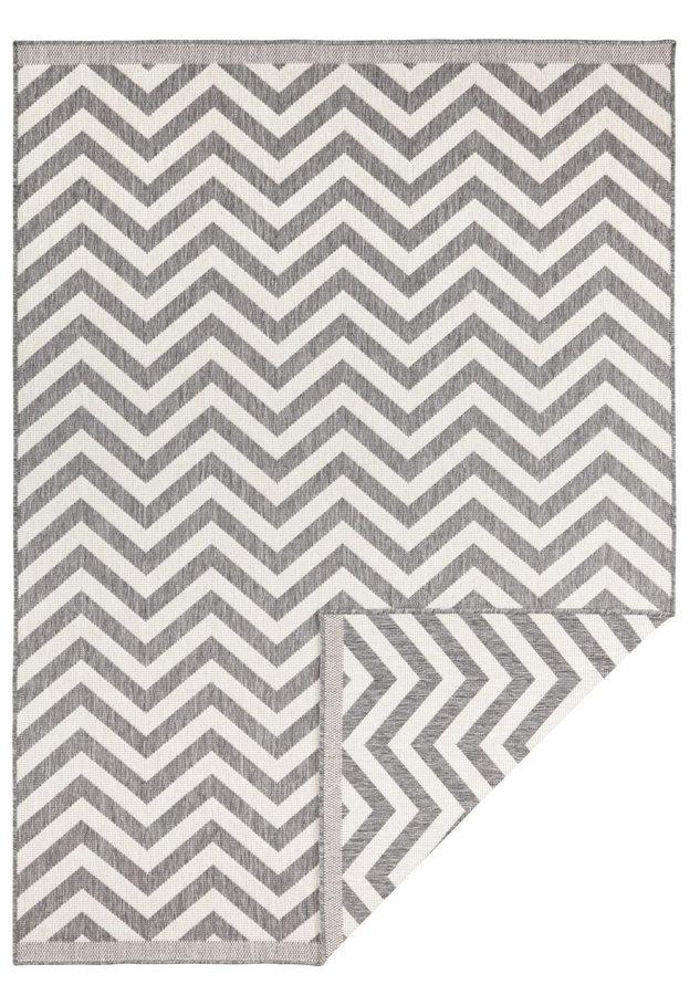 Šedý oboustranný moderní koberec Palma, Twin-Supreme - délka 350 cm a šířka 80 cm