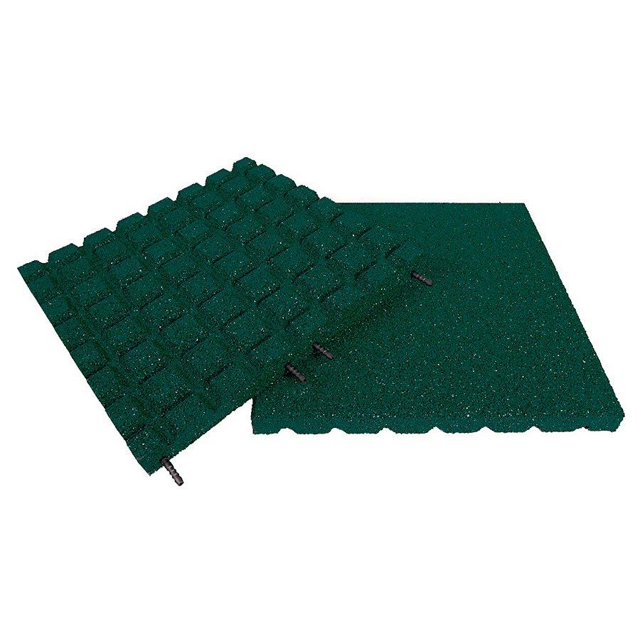 Zelená gumová dlaždice (V55/R15) - délka 50 cm, šířka 50 cm a výška 5,5 cm