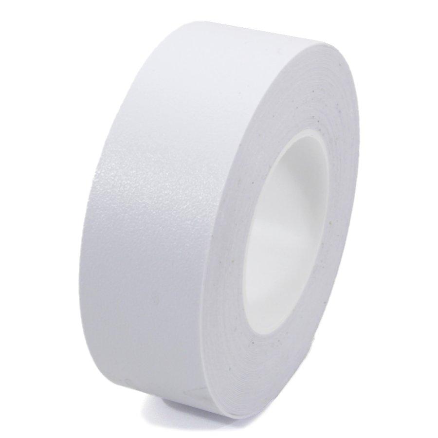 Bílá plastová protiskluzová voděodolná podlahová páska - 18,3 m x 5 cm