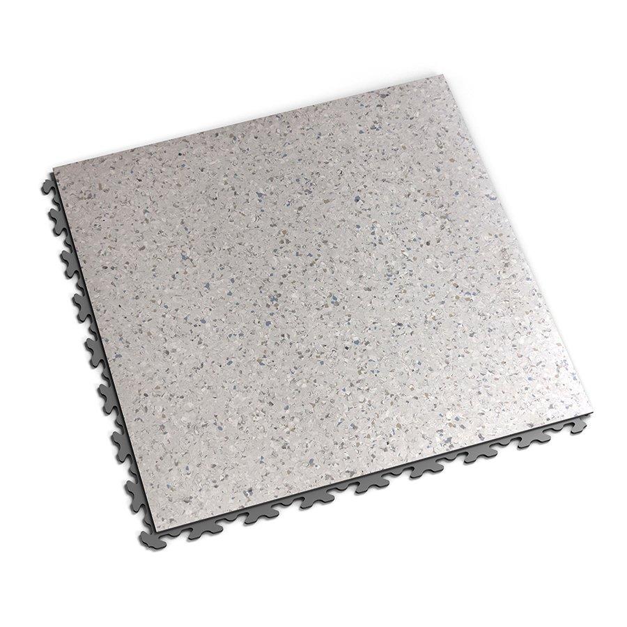 Šedá plastová vinylová dlaždice Solid Decor 2130, Fortelock - délka 47,2 cm, šířka 47,2 cm a výška 0,65 cm