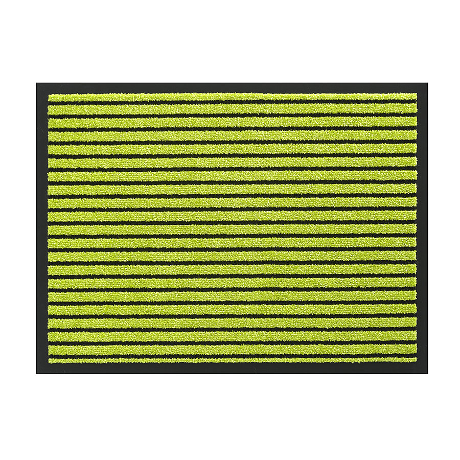 Zelená vnitřní vstupní čistící pratelná rohož Timeless, FLOMA - délka 60 cm, šířka 80 cm a výška 0,8 cm