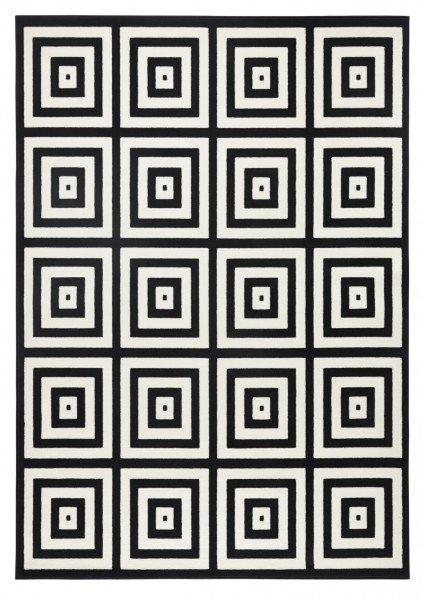 Černý kusový moderní koberec Capri