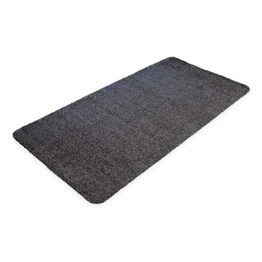 Černá bavlněná čistící vnitřní vstupní rohož - délka 100 cm, šířka 75 cm a výška 0,4 cm