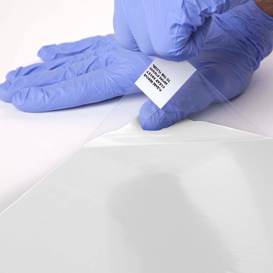 Bílá lepící dezinfekční antibakteriální dekontaminační rohož Antibacterial Sticky Mat, FLOMA - 45 x 115 cm - 30 listů