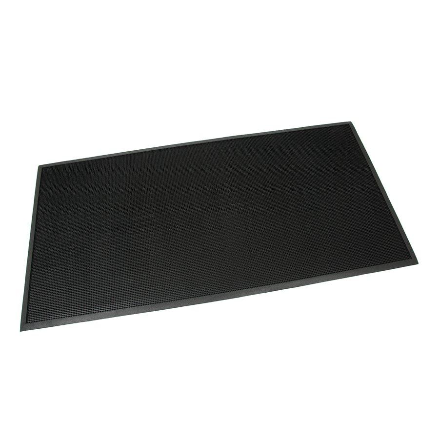 Gumová čistící kartáčová venkovní vstupní rohož Rubber Brush, FLOMAT - délka 180 cm, šířka 90 cm a výška 1,2 cm + dárek ZDARMA