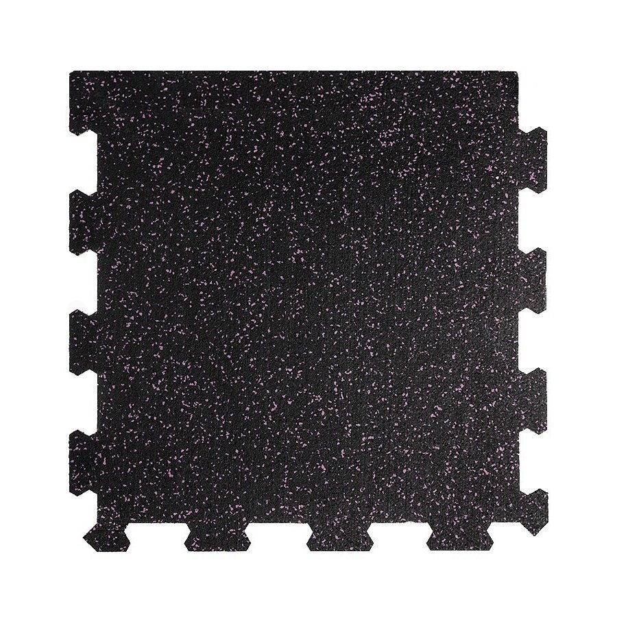 Různobarevná pryžová (10% EPDM STANDARD) modulární fitness deska (okraj) SF1050 - délka 47,8 cm, šířka 47,8 cm a výška 0,8 cm