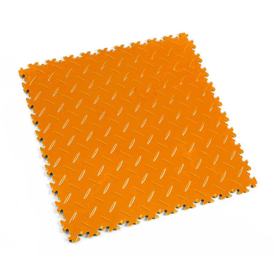 Oranžová vinylová plastová dlaždice Light 2050 (diamant), Fortelock - délka 51 cm, šířka 51 cm a výška 0,7 cm