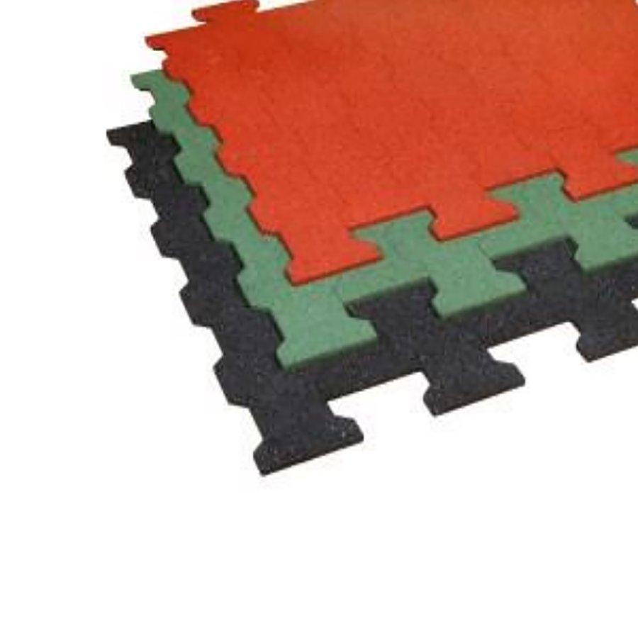 Černá gumová zámková dlažba ZD1/43 - délka 112 cm, šířka 100 cm a výška 4,3 cm