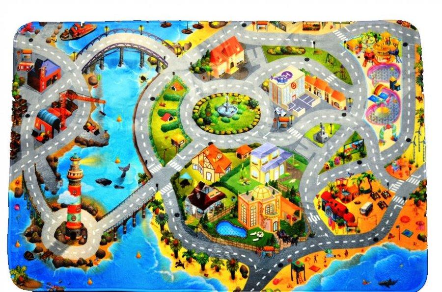 Různobarevný dětský hrací kusový koberec Ultra Soft