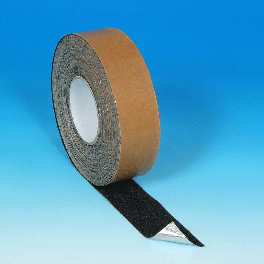 Černá korundová protiskluzová páska pro nerovné povrchy - délka 18 m a šířka 5 cm