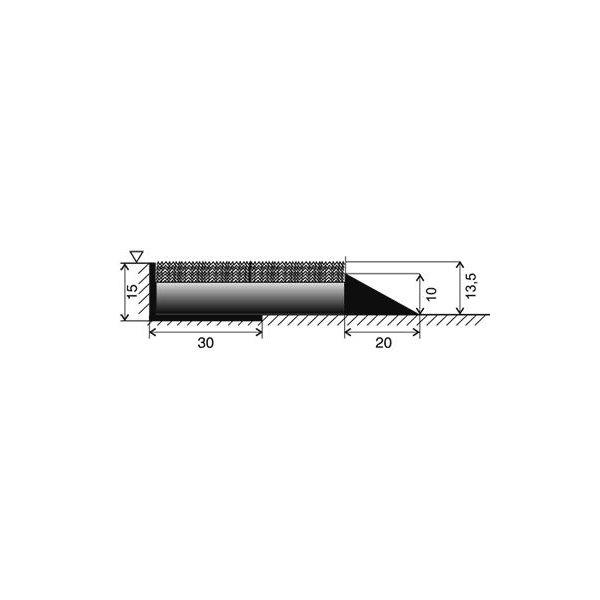 Béžová textilní vstupní vnitřní čistící zátěžová rohož Catrine, FLOMAT - délka 1 cm, šířka 1 cm a výška 1,35 cm