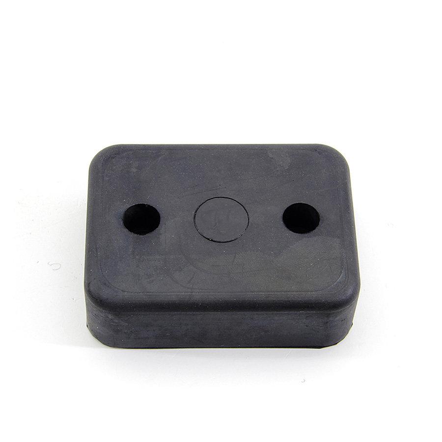 Černý pryžový doraz na rampu FLOXO - délka 10 cm, šířka 7,5 cm a tloušťka 3 cm