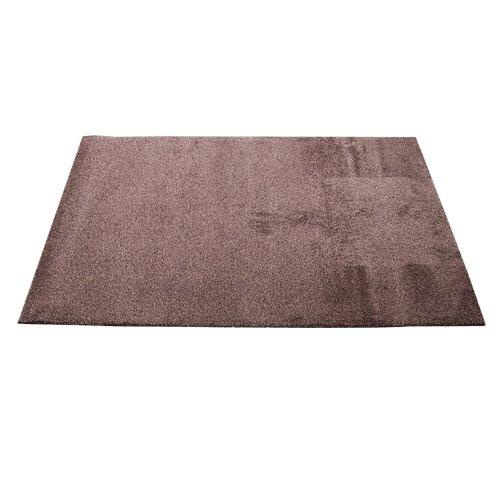 Hnědá textilní bavlněná čistící vnitřní vstupní pratelná rohož Natuflex - délka 150 cm, šířka 100 cm a výška 0,8 cm