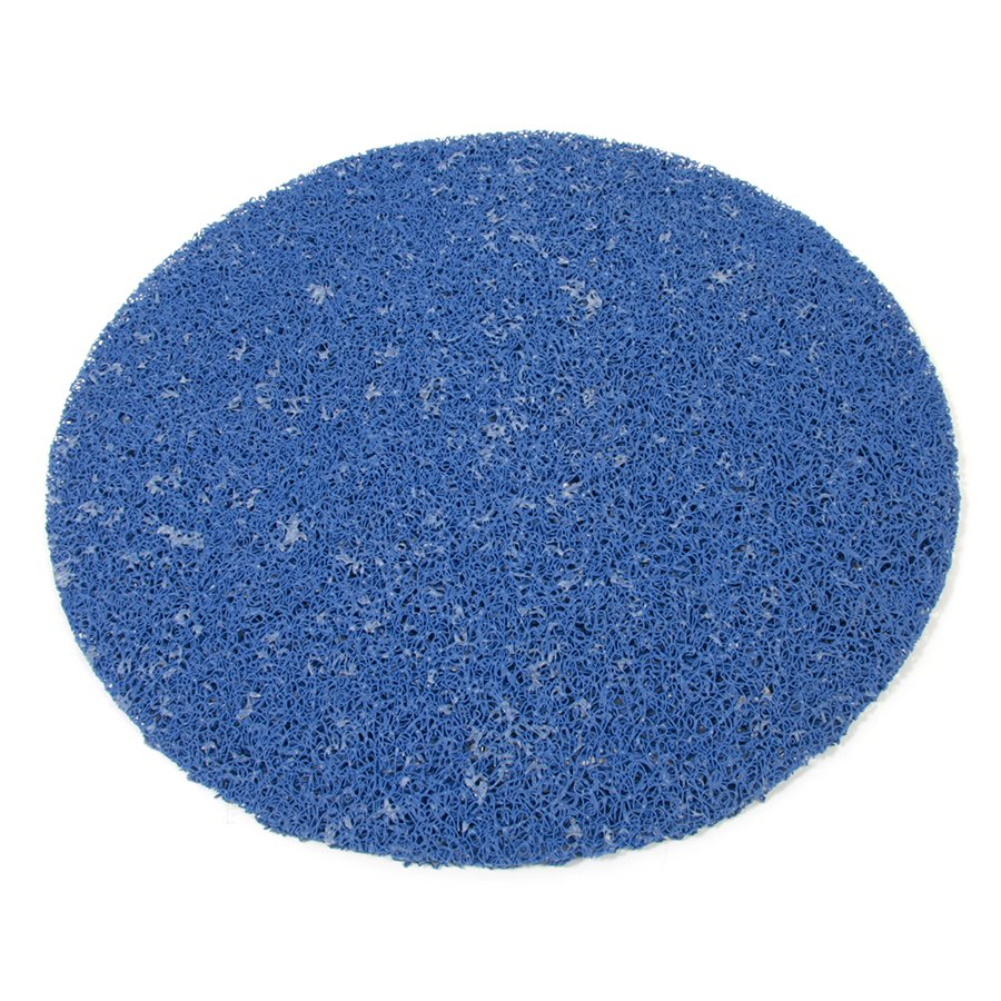 Modrá vinylová protiskluzová sprchová kulatá rohož Spaghetti, FLOMAT - průměr 54 cm a výška 1,2 cm