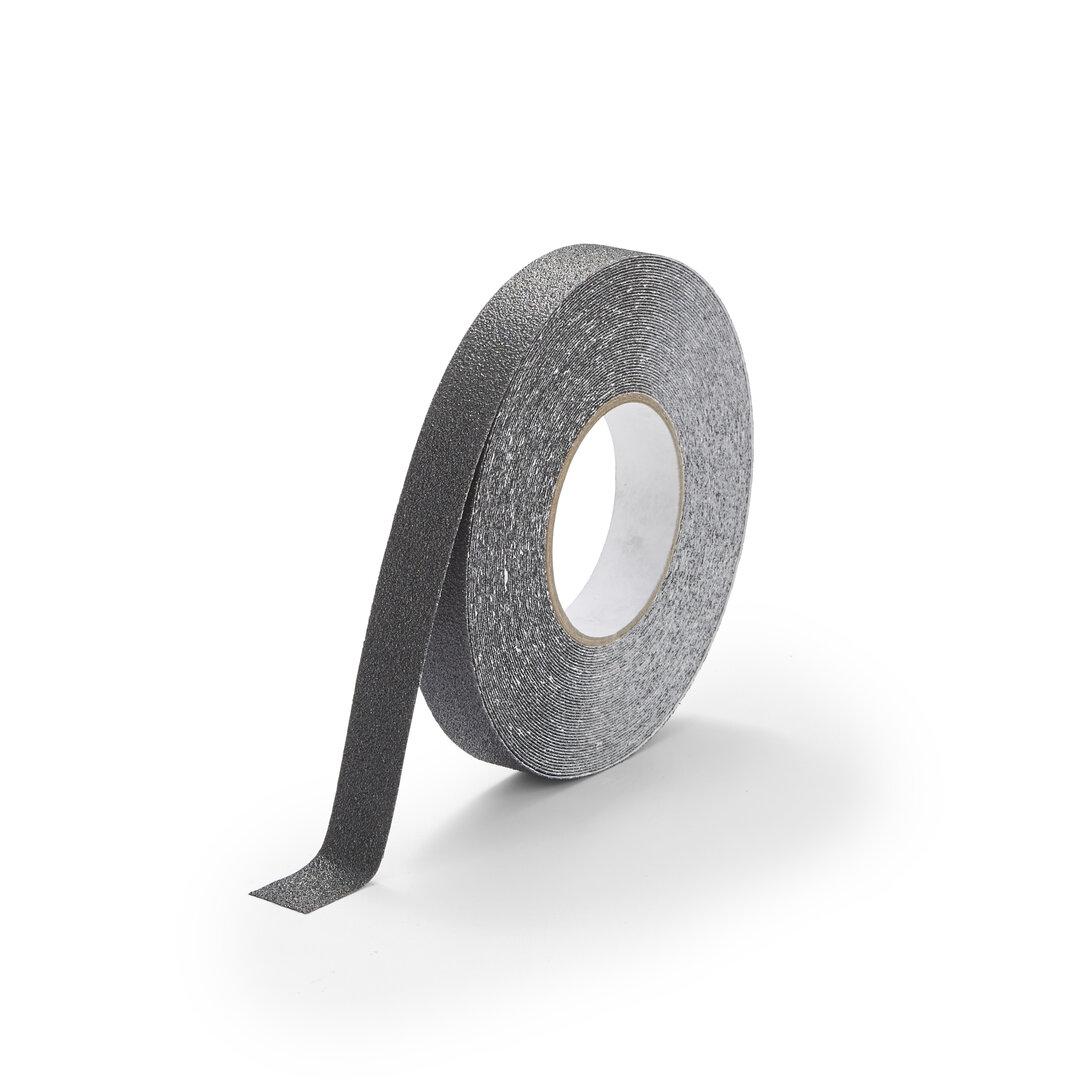 Černá korundová chemicky odolná podlahová páska Standard - 18,3 m x 2,5 cm