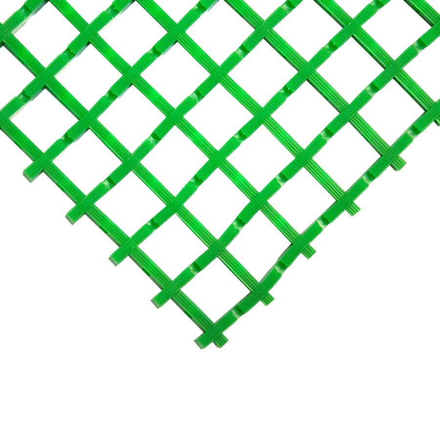 Zelená olejivzdorná protiskluzová průmyslová univerzální rohož (mřížka 22 x 22 mm) - šířka 90 cm a výška 1,2 cm