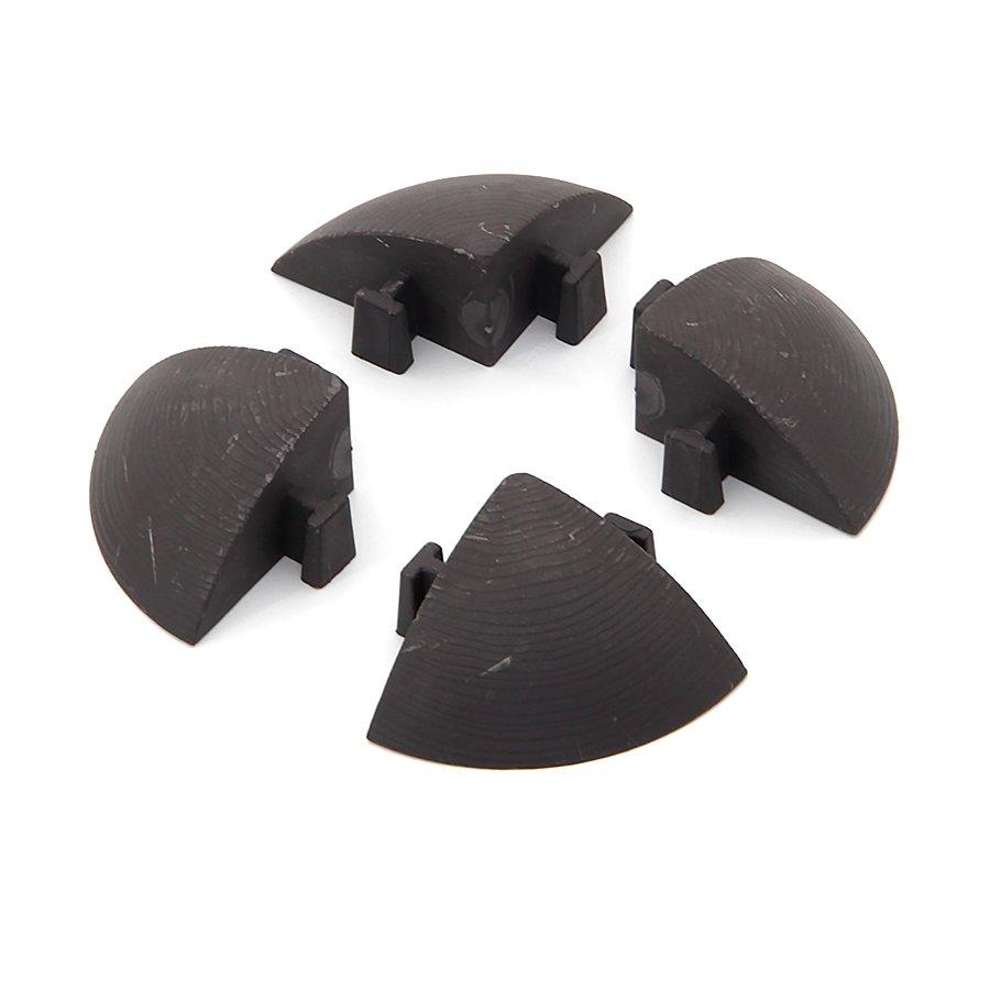 Hnědý plastový rohový nájezd pro terasové dlaždice Linea Easy - délka 5,4 cm, šířka 5,4 cm a výška 2,5 cm - 4 ks