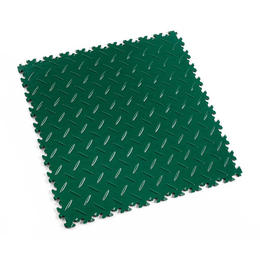 Zelená vinylová plastová zátěžová dlaždice Industry 2010 (diamant), Fortelock - délka 51 cm, šířka 51 cm a výška 0,7 cm