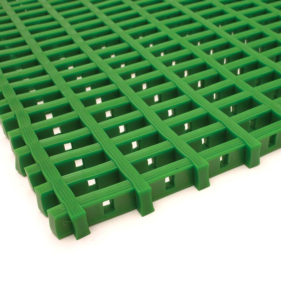 Zelená olejivzdorná protiskluzová průmyslová univerzální rohož (mřížka 22 x 10 mm) - šířka 90 cm a výška 1,2 cm