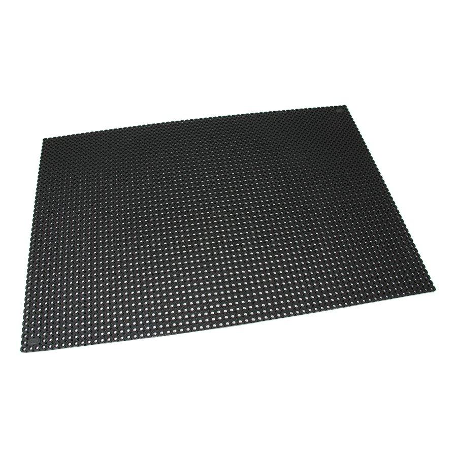 Černá gumová vstupní venkovní čistící rohož Octomat Mini - délka 100 m, šířka 150 cm a výška 1,4 cm
