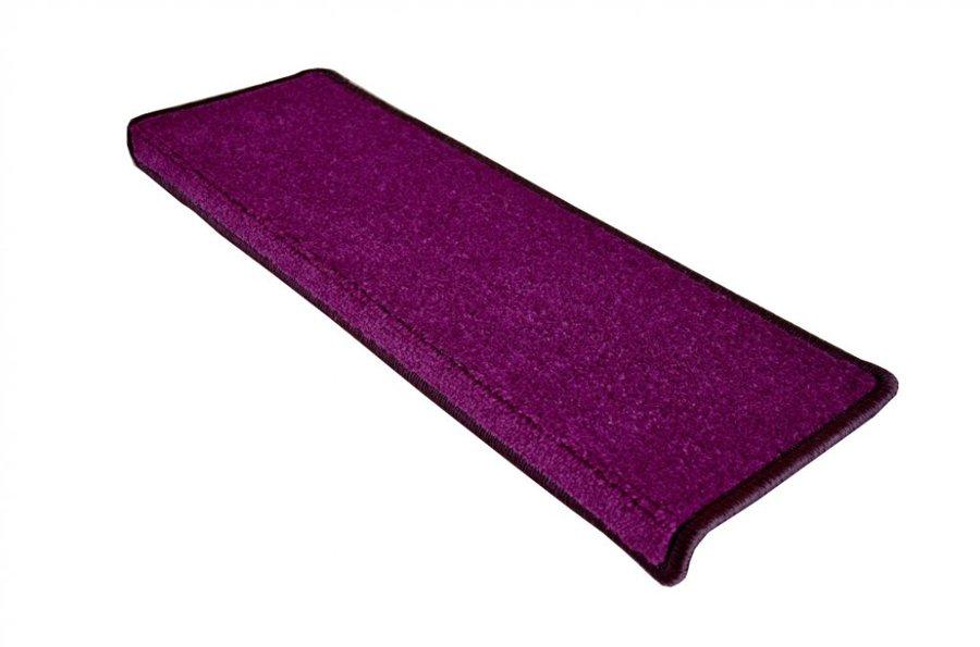 Fialový kobercový nášlap na schody Eton - délka 24 cm a šířka 65 cm