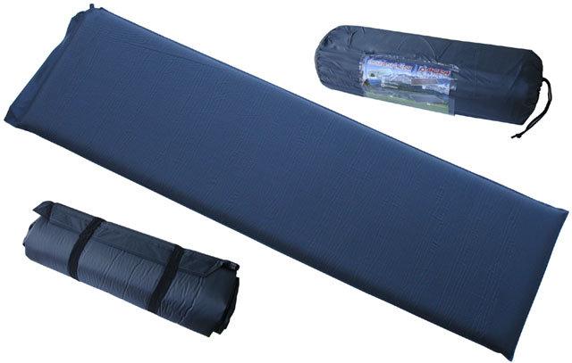 Modrá samonafukovací karimatka - délka 186 cm, šířka 53 cm a výška 5 cm