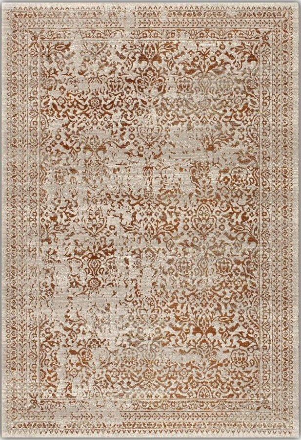 Béžovo-šedý kusový moderní koberec Patina