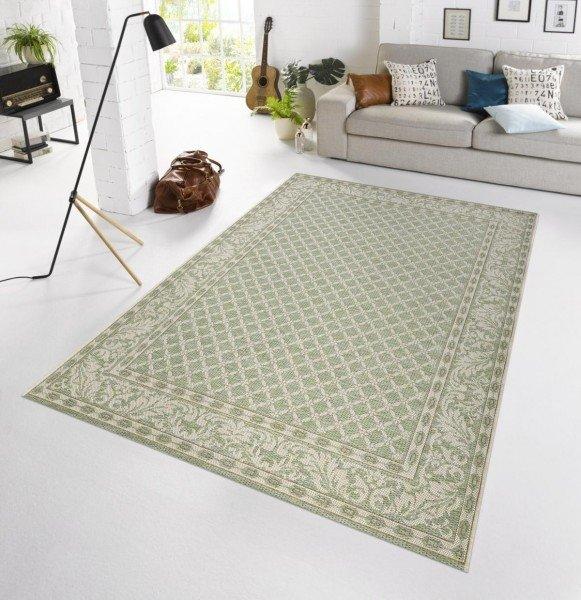 Zelený kusový venkovní moderní koberec Botany