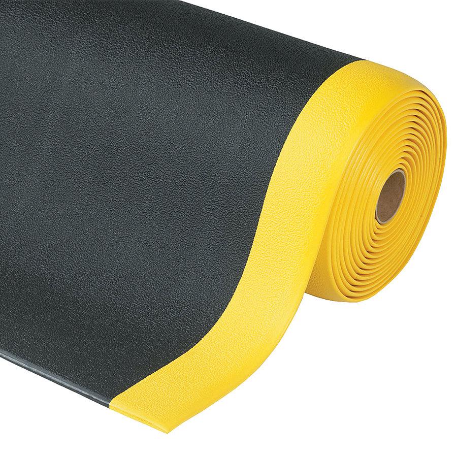 Černo-žlutá ESD protiskluzová rohož Cushion Stat - šířka 91 cm a výška 0,94 cm