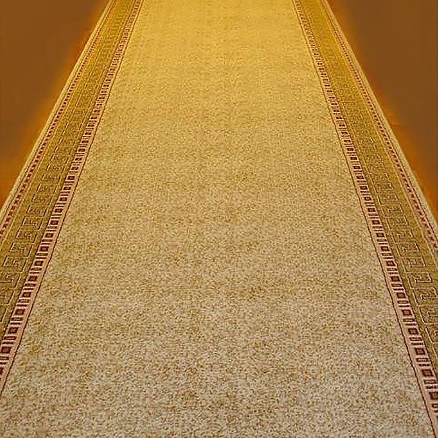 Béžovo-hnědý metrážový moderní koberec běhoun Melody - šířka 150 cm