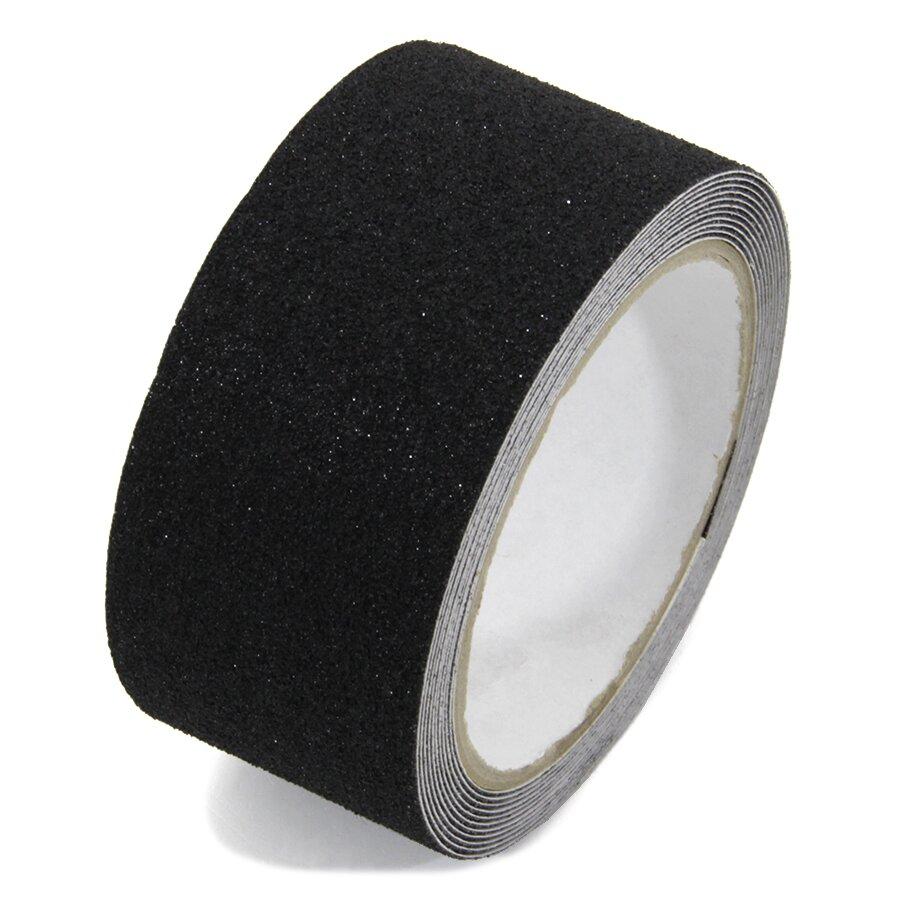 Černá korundová podlahová páska - 3 m x 5 cm