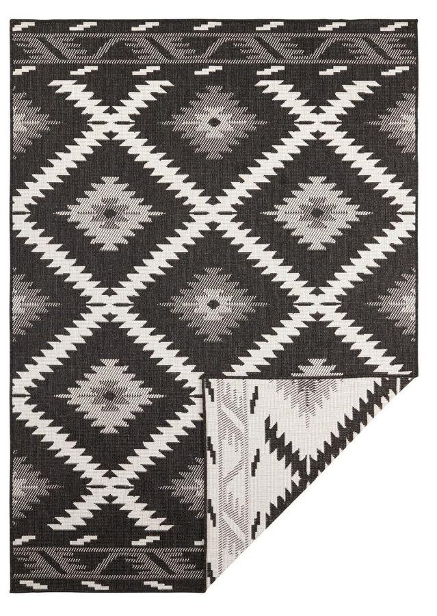 Antracitový oboustranný moderní koberec Twin-Supreme, Malibu