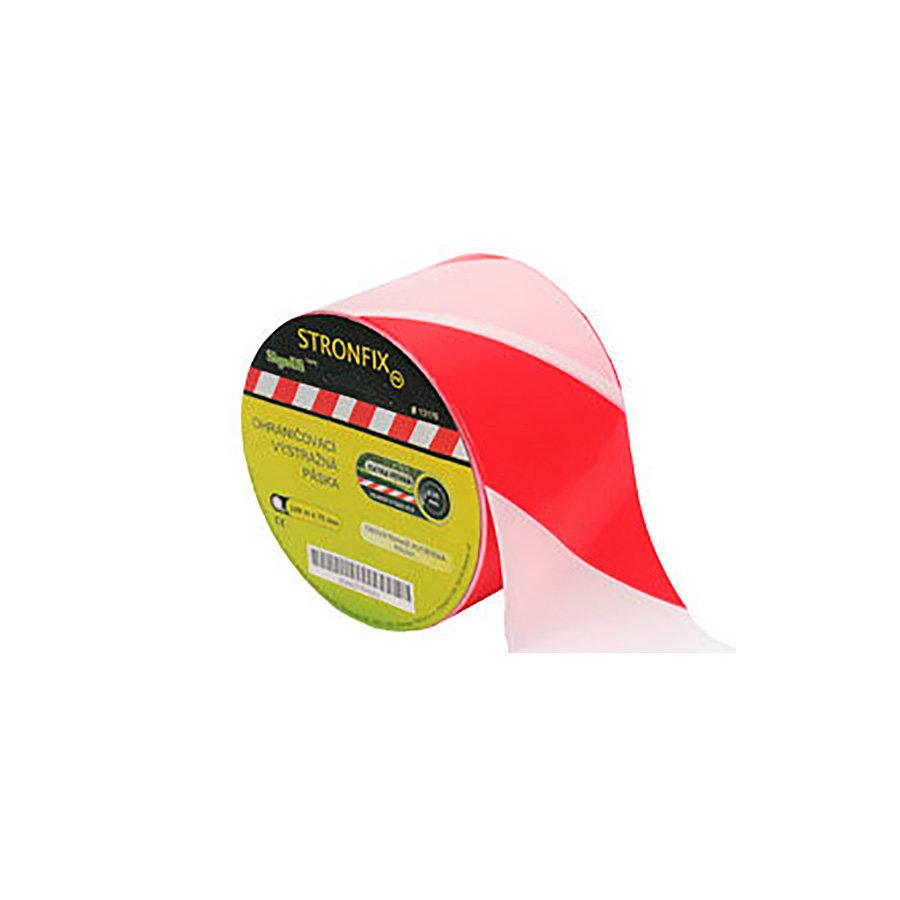 Bílo-červená vytyčovací páska - délka 100 m a šířka 7,5 cm