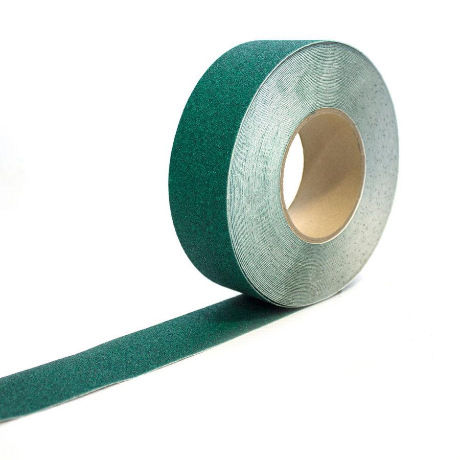 Zelená korundová protiskluzová páska - délka 18,3 m a šířka 5 cm