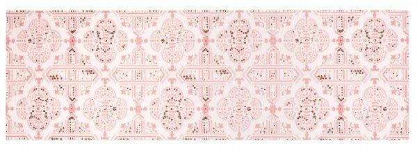 Růžový kusový orientální koberec běhoun Cook & Clean - délka 140 cm a šířka 45 cm
